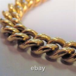 Vintage 9ct Gold Curb Bracelet With Heart Padlock Safety 18.3g Free Postage