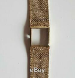 Vintage 9ct Gold Ladies Omega Bracelet Watch