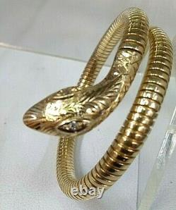 Vintage 9ct Gold Ladies Snake Bangle Fantastic Condition Ideal Gift