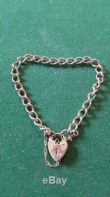 Vintage 9ct gold charm bracelet 8.3g not scrap