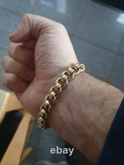 Vintage 9ct gold rollerball bracelet Men's