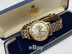Vintage 9k 9ct 375 solid gold Mens Garrard watch (with 9ct gold bracelet) Large
