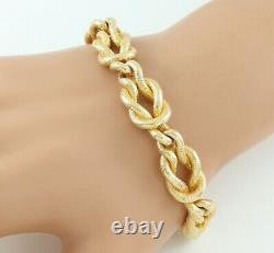 Vintage Solid 9Ct Gold Reef Knot / Nautical Link Bracelet