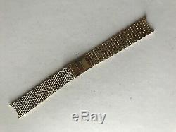 Vintage Tissot 9ct Yellow Gold 18mm Mesh Watch Bracelet