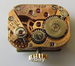 Vintage Tudor Royal Ladies 9ct Gold Manual Bracelet Watch (With Tudor Box)