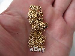 WONDERFUL HALLMARKED 9ct YELLOW GOLD, 6.5 DOUBLE CURB LINK BRACELET 5.3g