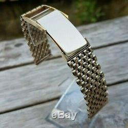 Watch strap/bracelet 9ct gold Birmingham assayed 1951 with an 18mm lug width
