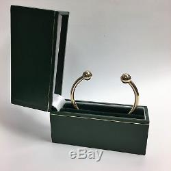 (ne6) 9ct 9kt Carat Yellow Gold Torque Bangle Bracelet